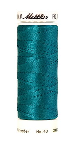 Mettler Poly Sheen Polyester Embroidery Thread, 220 yd, Aqua (220 Terry)