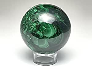 Astro Gallery Of Gems Polished Malachite Sphere - 244. 2 Grams