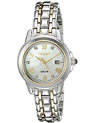 Seiko Womens SUT244 LGS Solar Analog Display Japanese Quartz Two Tone Watch