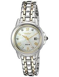 Seiko Women's SUT244 LGS Solar Analog Display Japanese Quartz Two Tone Watch
