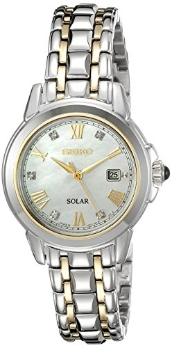 Seiko Women's SUT244 LGS Solar Analog Display Japanese Quartz Two Tone Watch