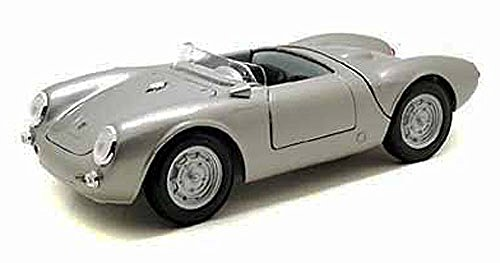 Maisto Porsche 550 A Spyder Convertible, Silver 31843 - 1/18 Scale Diecast Model Toy Car