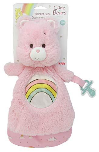 Care Bears Lovey Blanket with Pacifier Loop, Cheer Bear - Pink