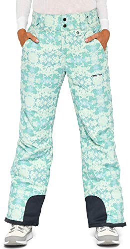 Arctix Women's Insulated Snow Pants, Summit Print Island Blue, Medium/Regular (Patterned Ski Girls Pants)