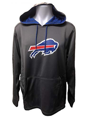 Majestic Athletic Buffalo Bills Men's Armor Pullover Hoody Sweatshirt - Charcoal (Large)