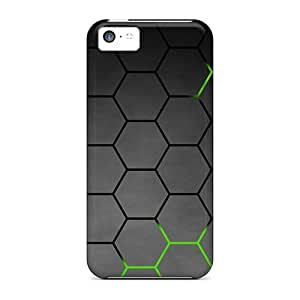 CsWAMRL7343LZnhd Green Honeycomb Fashion Tpu 5c Case Cover For Iphone