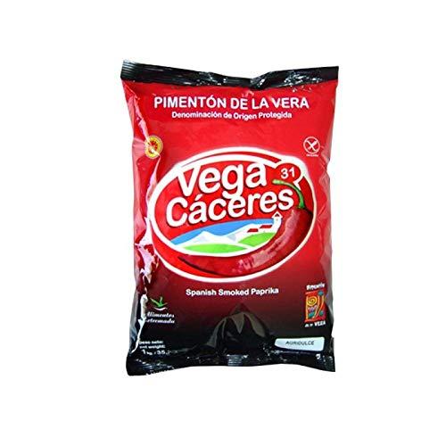 Pimentón de la Vera Ahumado Variedad Agridulce Bolsa de 1 kg Condimento Sin Gluten Formato Ahorro