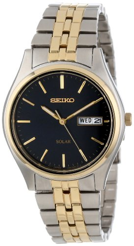Seiko-Mens-SNE034-Two-Tone-Solar-Bluish-black-Dial-Watch