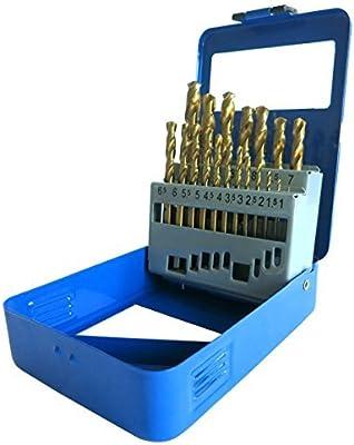 S&R Juego de Brocas HSS Titanio Metal (1- 10 mm) 135 ° serie TM ...