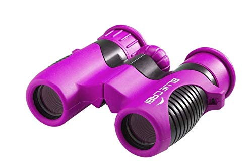 BlueCabi Shock Proof 8x21 Kids Binoculars - High Resolution Real Optics Childrens Compact Binocular Set - Great for Science, Bird Watching, Outdoor Play, Travel, and Gifts for Boys & ()