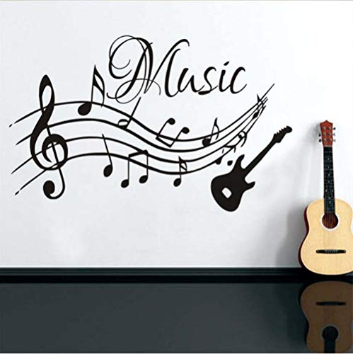 Musical Mural - Wall Stickers & Murals Musical Notes Music Wall Stickers PVC Removable Living Room DIY Nursery Home Decor Guitar Wall Decals
