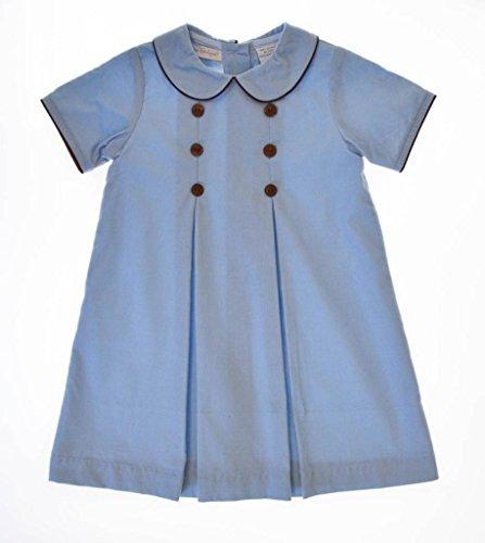 Carriage Boutique Baby Girl's Cotton Corduroy Button Dress 24 Months Blue