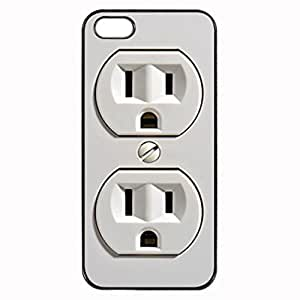 Plug Wall Plug 110v Electric Plug Looks Real Unipue Custom Image Case iphone 4 case , iphone 4S case, Diy Durable Hard Case Cover for iPhone 4 4S , High Quality Plastic Case By Argelis-sky, Black Case New