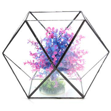 Vase Bud Victorian (AntsStore Greenhouse Glass Bottle Glasshouse Glaze Succulent Terrarium Christma - 1PCs)