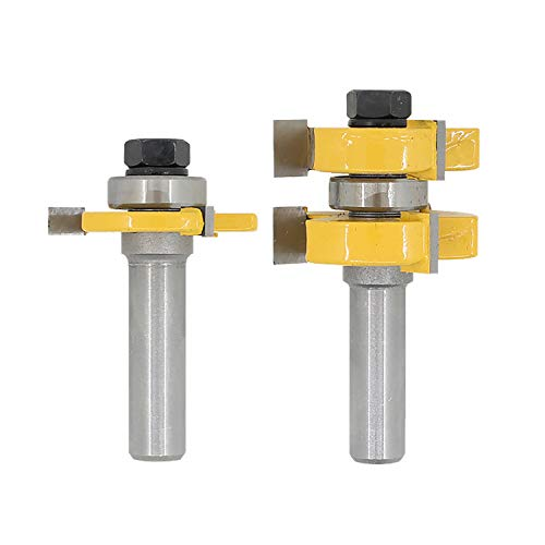 8 options - Router bit flooring tongue and groove router bits 1/4 shank 1/2 shank t shape wood milling cutter (S5) (Best Cheap Flooring Options)