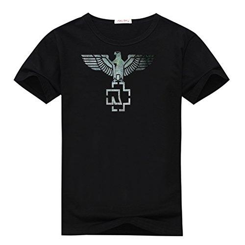 99b65b01d31e4 Men s Printed Rammstein Logo Eagle Poster T Shirts By Anedreabe XXL Black