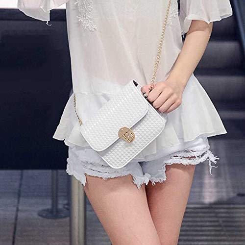 15 18 Vimoer Bolso Blanco 7cm Para Mujer Hombro Al nf0pqfwR1
