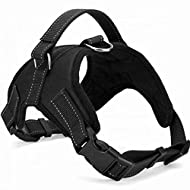 HR Creations No Pull Dog Harness, Adjustable Breathable Durable Reflective Soft Padded Chest Vest with Handle for Easy Control,S/M/L/XL,Perfect for Walking,Running, Training