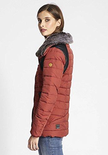 guateada mujer Manga para Oscuro chaqueta Larga Chaqueta khujo Rojo BYqAEpvv