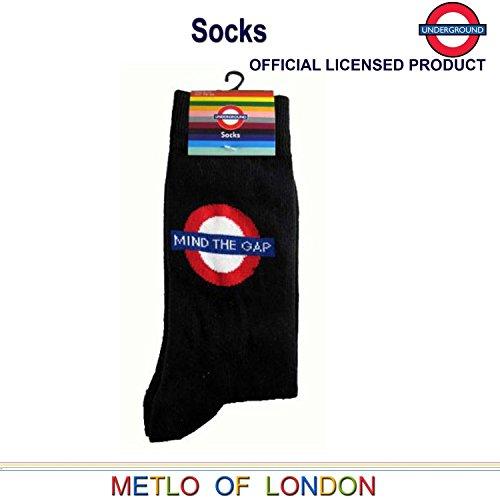 Mapa Londres de Gap la Londres Tubo brecha transporte subterráneo Mind Cuidado con The Calcetines qqZ4gvr