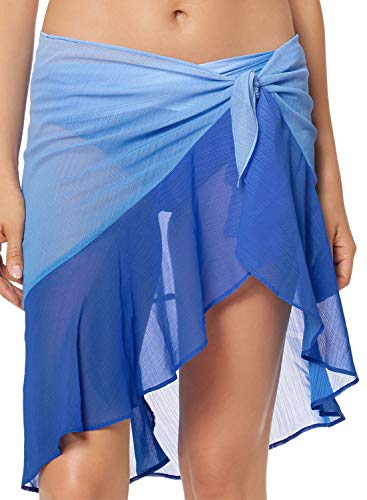 Blibea Womens Sexy Chiffon Beach Sheer Cover Up Ruffle Short Sarong Swimsuits Wrap Skirt Swimwear Bikini One Size ()