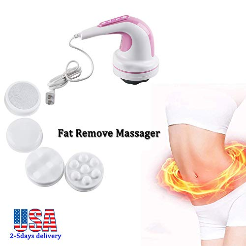 Zinnor Fat Remove Massager,Handheld Electric Massager,Professional Vibration Slimming Massager for Leg Waist Thigh Arm Stomach - Lost Weight Fast,Helps Relax and Relieve Muscle Tightness or - Slim Relax Slim Massager