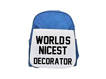 Mundos mejor decorar impreso Kid s azul mochila, para mochilas, cute small Mochilas