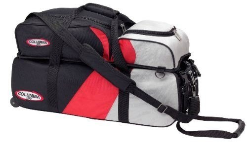 Colombia 300 pro series triple bowling ball tote Red/Silver by Columbia 300