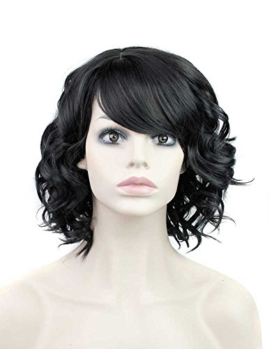 Short Curly Wig Sythetic Full Hair Wig Like Real Human Hair (Wigs For Black Women)