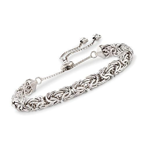 RossSimons Sterling Silver Byzantine Bolo Bracelet