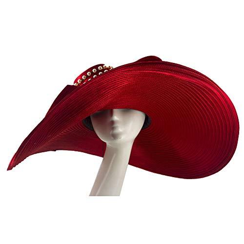 (Kueeni Women Wedding Hat Church Hats Mother of The Bride Hats Yellow)