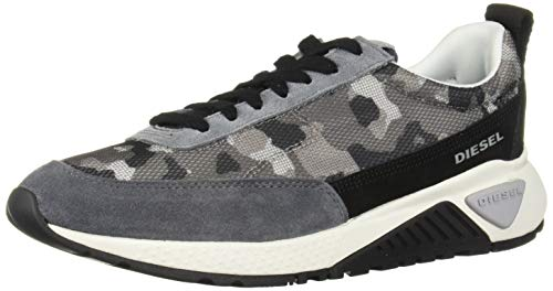 Diesel Men's SKB S-KB Low LACE-Sneakers, Camouflage/Military/Black/Grey, 9 M US