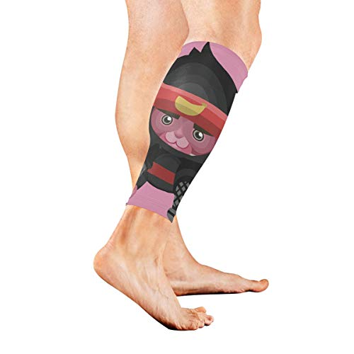 (KMAND Leg Sleeve Monkey As Ninja Compression Socks Support Non Slip Calf Sleeves Pads - Improve Circulation for Shin Splint, Calf Pain Recovery, Running, Cycling, Travel, 1)
