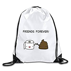MAIQU Friends Forever Gym Sack Bag Drawstring Backpack Sport Bag