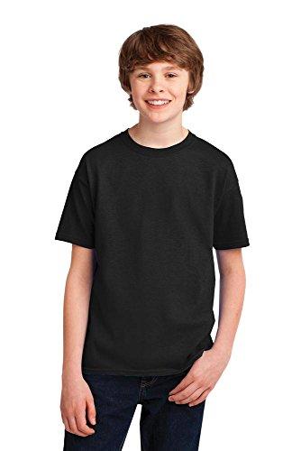 (Gildan 42000b Youth kids Performance dri fit T-Shirt. Gildan Youth Gildan Performance T-Shirt 42000B Black S)