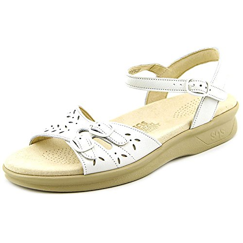 SAS Women's, Duo Low Heel Sandal White 7 ()