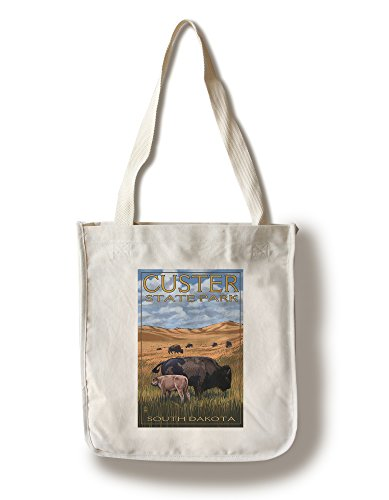 Custer State Park - Buffalo Herd and Calf (100% Cotton Tote Bag - ()
