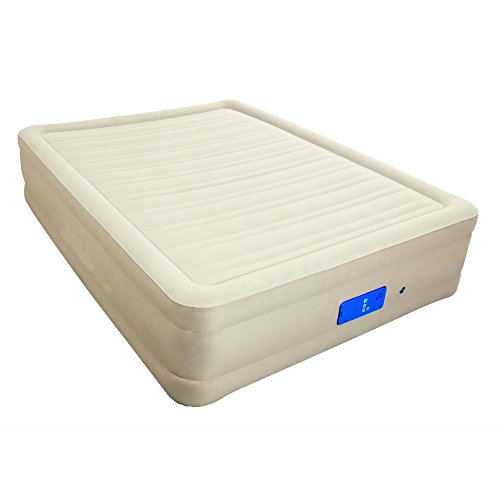 """Air-Mattress. This 17"""" 3 Comfort Levels Blow Up Airbed with Built in Electric Pump for Rest, Deep Healthy Sleep, Adults, Indoor & Outdoor. Inflatable Bed is Best As Camping Or Guest Bed & Sleepover."""