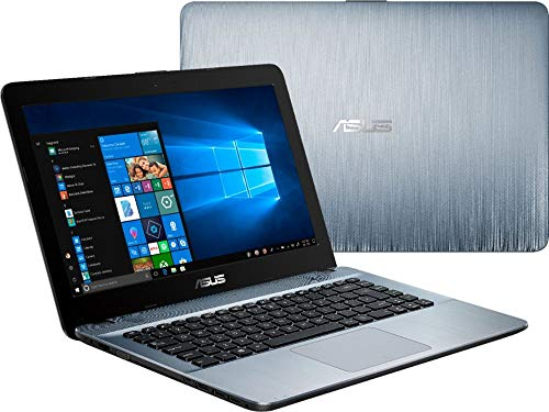 ASUS Vivobook 2019 Premium 14 HD Non-Touch Laptop Notebook Computer, 2-Core AMD A6 2.6GHz, 8GB DDR4 RAM, 128GB SSD, No DVD, Wi-Fi|Bluetooth|Webcam|HDMI|VGA, Windows 10