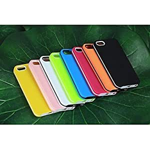 Mini - Solid Color Full Body TPU Cases for iPone5/5S , Color: Yellow