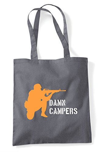 Shopper Multiplayer Online Tote Dark Gaming Grey Campers Pvp Statement Bag Damn qnET18B7