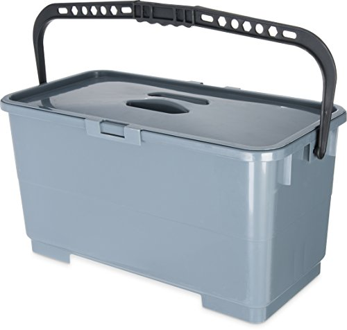 Carlisle 363301923 Polypropylene Rectangular Squeegee Bucket, 6 Gallon Capacity, 20-1/2