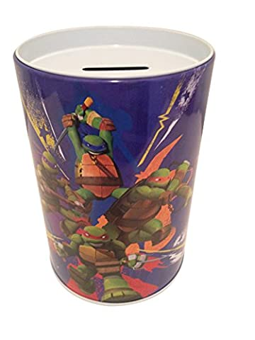 The tin box company in Action - Teenage Mutant Ninja Turtle - Saving (Coin or Money) Bank for Kids - Money Turtle