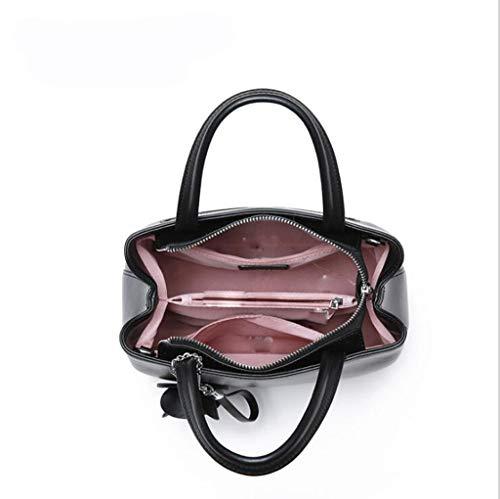 Tracolla Donna25 Elegante 84 colore In 12cm Pelle Pelle 73inch 9 A Dimensioni Nero 9 Borse One Pu 4 Donna 25 84 Size Per Borsa Moda Gray Design 56q07cc