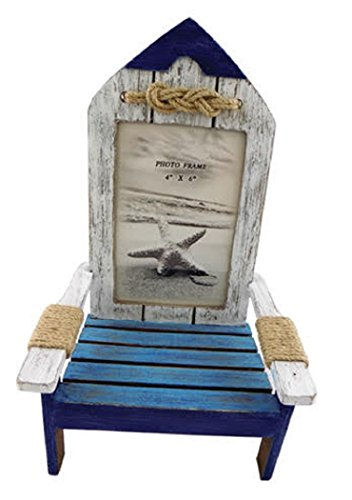 Rowboat Beach Chair Photo Frame, Holds 4 Inch x 6 Inch Picture, Overall Frame 10.75 Inches X 5.5 Inches x 6.75 Inches