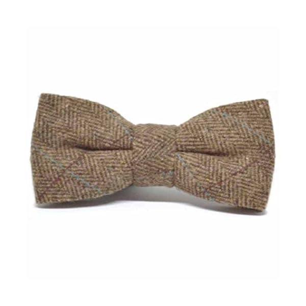 Luxury-Herringbone-Brown-Tweed-Bow-Tie