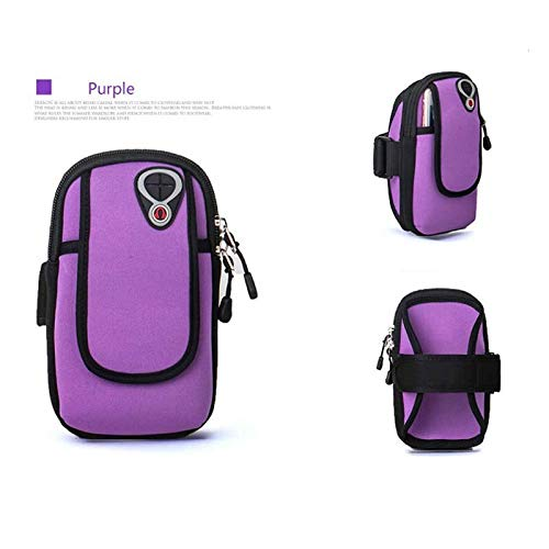 - Moonnight Store 5 inch Sports Jogging Gym Armband Running Bag Arm Wrist Band Hand Mobile Phone Case Holder Bag Outdoor Waterproof Nylon Hand Bag (purple)