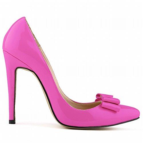 On Suede Heel Bowtie Stilettos Fashion Purple Pumps High 24XOmx55S99 Pointed Sweet Dress Slip Toe Women's v8qwPA