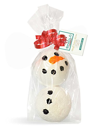 Frosty the Bath Bomb SnowMan - 5 Tall- Cute, Sparkly & Moisturizing 9 oz Bath Bombs Scented with Sparkling Snowflake. Great Stocking Stuffer or Teachers Gift!