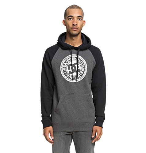 DC Shoes Mens Shoes Circle Star - Hoodie - Men - S - Black Black/Charcoal Heather S ()